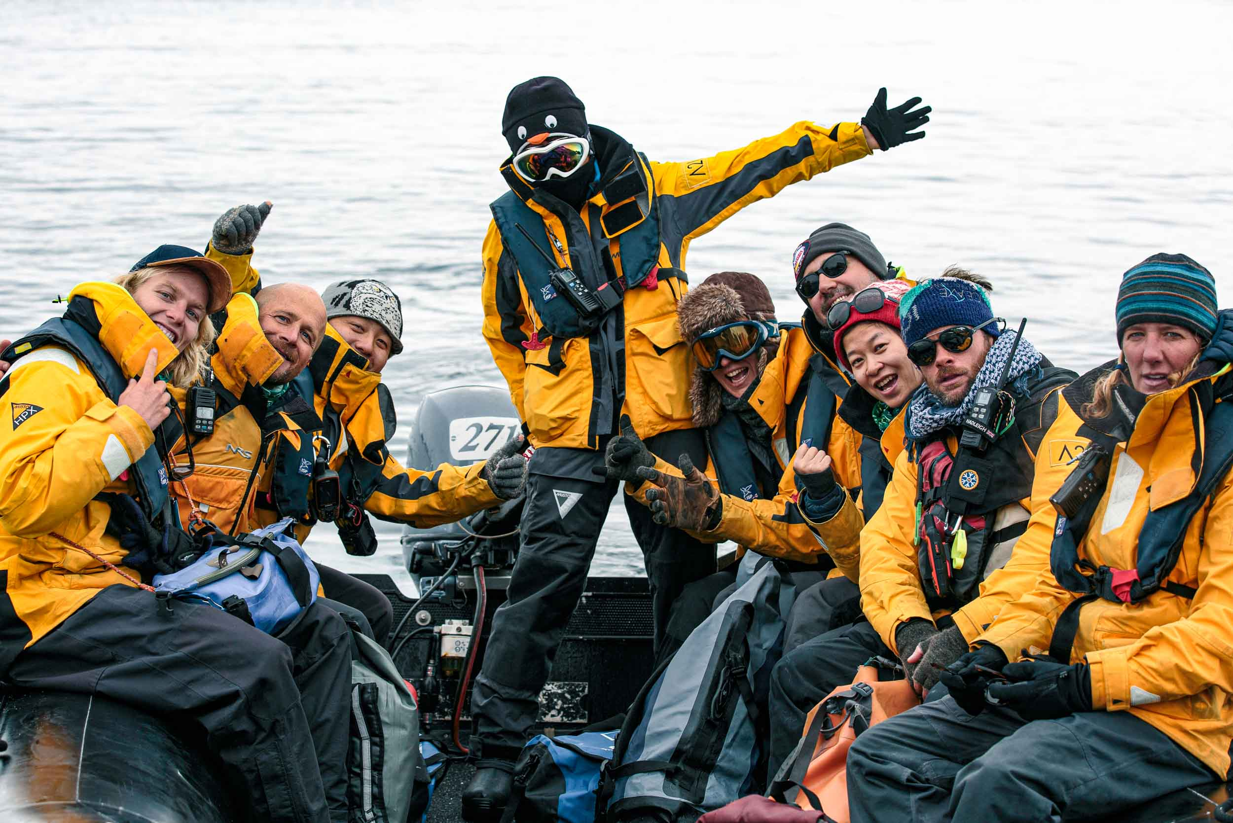 Our expedition team in Antarctica