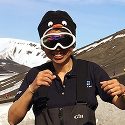 Wei Deng, Expedition Guide and Underwater Photographer, in Antarctica21's Expedition Team